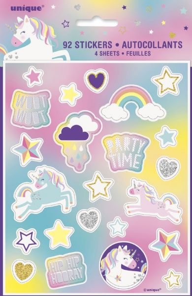 Unicorn Birthday Sticker Sheets (4)